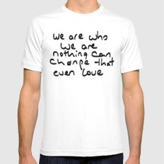 we are who we are Mens Fitted Tee SMALL White