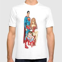 Super Heros Family Mens Fitted Tee White SMALL