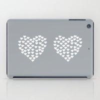 Hearts Heart x2 Grey iPad Case