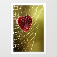 Heart Web Art Print