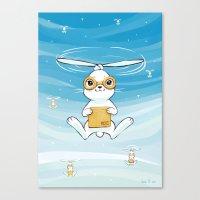 Postal Bunny Canvas Print
