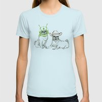 Cowboys & Aliens Womens Fitted Tee Light Blue SMALL