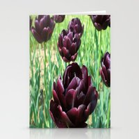 PURPLE TULIPS   Stationery Cards