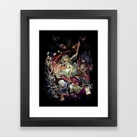 Zombies In Wonderland Framed Art Print