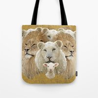 Lions Led By A Lamb Tote Bag