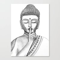 Shh... Do not disturb - Buddha Canvas Print