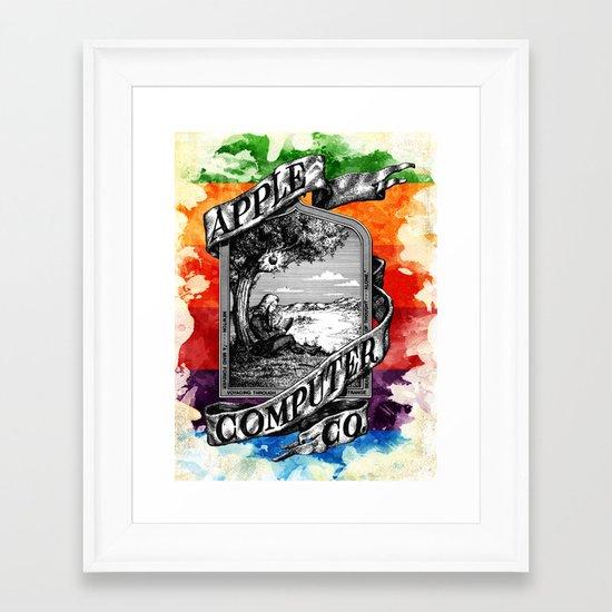 The Apple iVolution Framed Art Print