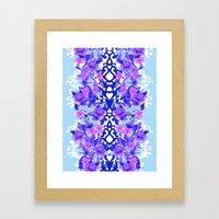 Baroque Blue Framed Art Print