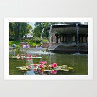 Central Park Flowers In … Art Print