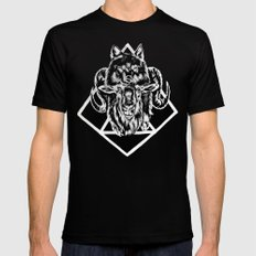 Goat as wolf Mens Fitted Tee Black SMALL