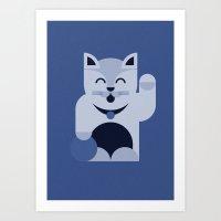 Maneki-neko (Lucky Cat) Art Print