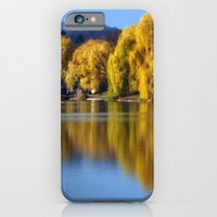 iPhone & iPod Case featuring November Pond  by Elaine C Manley