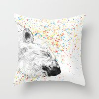 Polar Bear // Endangered… Throw Pillow
