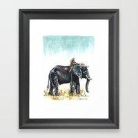 Majestic Safari Framed Art Print