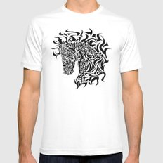 Stallion Mens Fitted Tee White SMALL