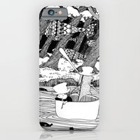 iPhone & iPod Case featuring Traveling through the forest in the cup by Tomo Miura