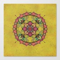 Tan Mandala Canvas Print