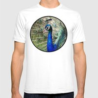 Peacock Mens Fitted Tee White SMALL