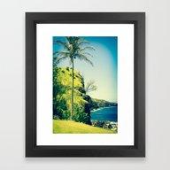 Kahakuloa Beach Palm Mau… Framed Art Print