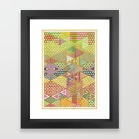 A FARCE / PATTERN SERIES… Framed Art Print