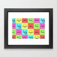 Smiley Chess Board Framed Art Print