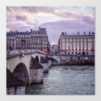 Le Pont Royal, Paris. Canvas Print