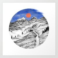 MOUNTAIN TRAIL Art Print