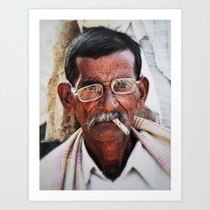 Man with Cigarette Art Print