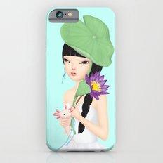 lotus in the rain iPhone 6s Slim Case