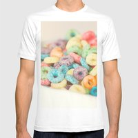 Fruit Loops Mens Fitted Tee White SMALL