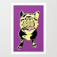 Taco the French Bulldog Art Print