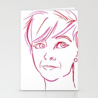 Pink Portrait Stationery Cards