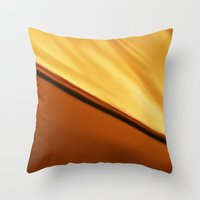 desert and sun Throw Pillow
