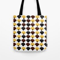 Labrador Dog Pattern Tote Bag