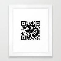 Code Om Framed Art Print