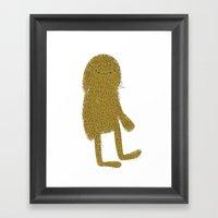 Sasquatch Man Framed Art Print