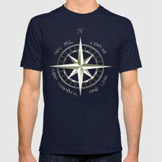 Not All Those Who Wander… Mens Fitted Tee Navy SMALL