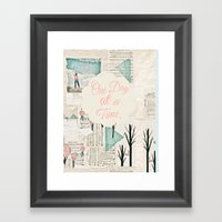 One Day At A Time Framed Art Print