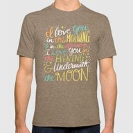 I LOVE YOU IN THE MORNIN… Mens Fitted Tee Tri-Coffee SMALL
