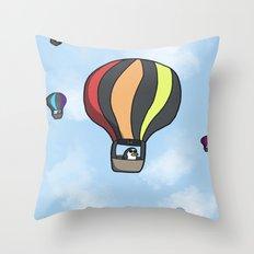 Penguin Transport Throw Pillow