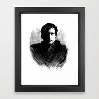 DARK COMEDIANS: Steve Ca… Framed Art Print