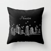 Houston, Texas City Skyline Throw Pillow