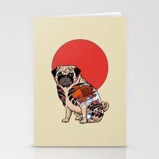 Yakuza Pug Stationery Cards