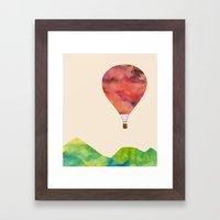 Sunset balloon Framed Art Print