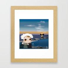 Deery Fairy in Hot Spring Framed Art Print