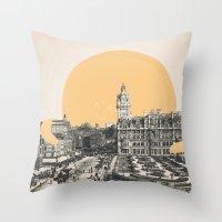 A Hug For Edinburgh Throw Pillow