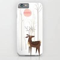 wood iPhone & iPod Cases featuring Reindeer of the Silver Wood by Poppy & Red