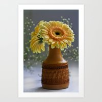 Pretty Gerbera Art Print