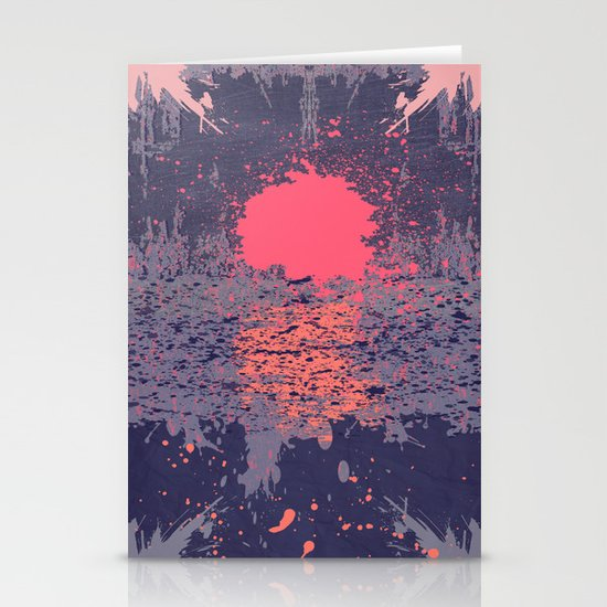 Sunset Stationery Card