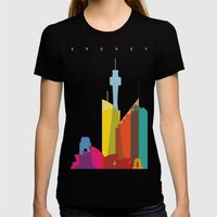 Shapes Of Sydney. Accura… Womens Fitted Tee Black SMALL